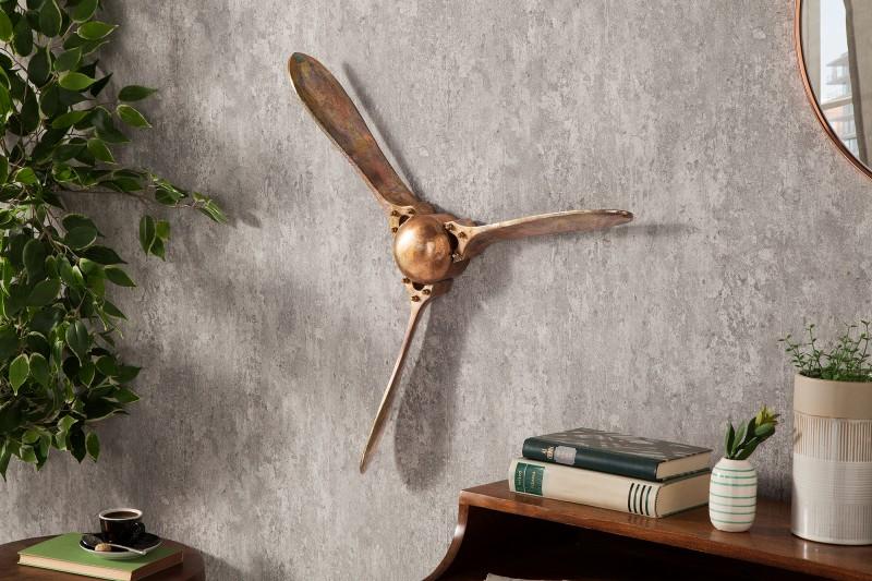 Nástěnná dekorace Propeller 60cm - plamenná měď / 39560