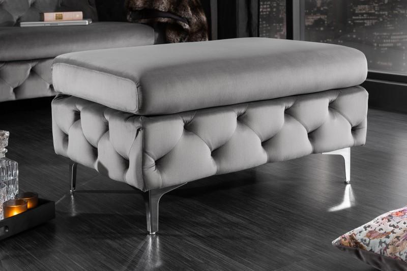 Moderní barokní stolička šedá / 39608