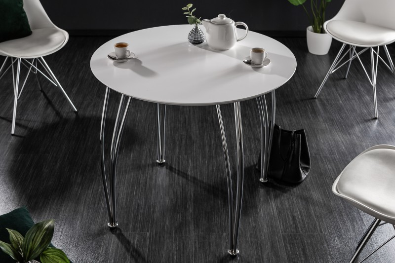 Jídelní stůl Arrondi 90cm - bílý / 6975