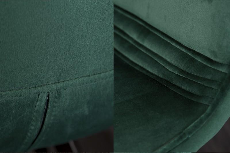 Jídelní židle Cindy - smaragdová, samet / 39918 - 2ks skladem