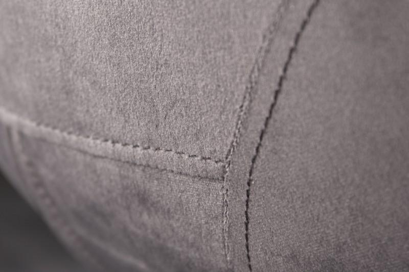 Jídelní židle Cindy - tmavě šedá, samet/ 39920 - 2ks skladem