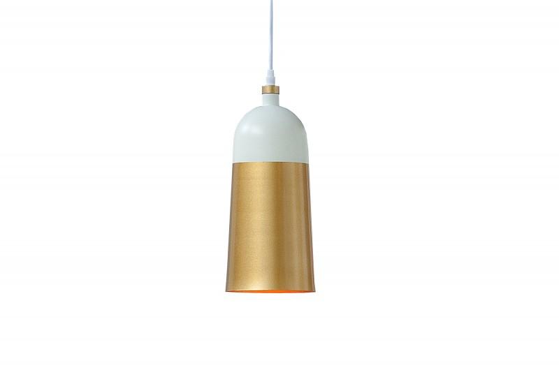 Závěsná lampa Modern Chic I - bílá, zlatá / 39966