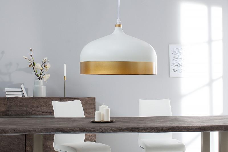 Závěsné světlo Benicia II - bílá, zlatá / 39968