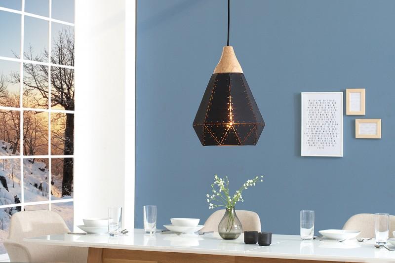 Závěsná lampa Clara I - černá / 39971