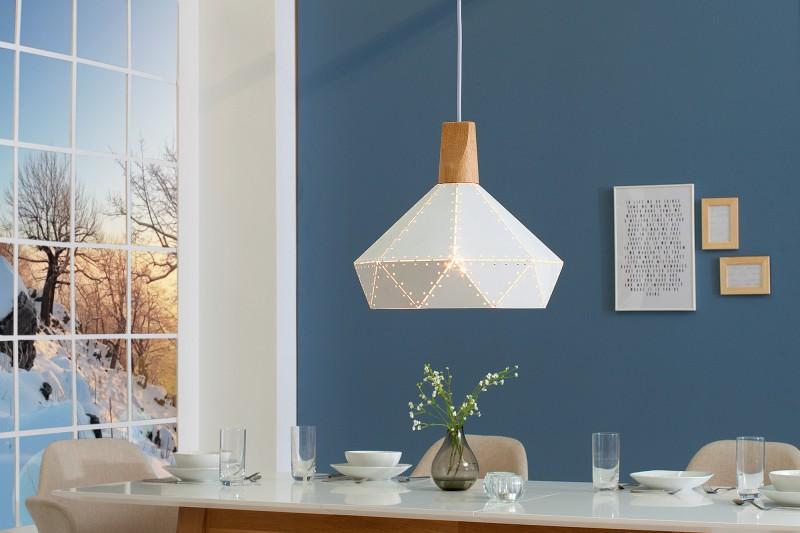 Závěsná lampa Clara II - bílá / 39972