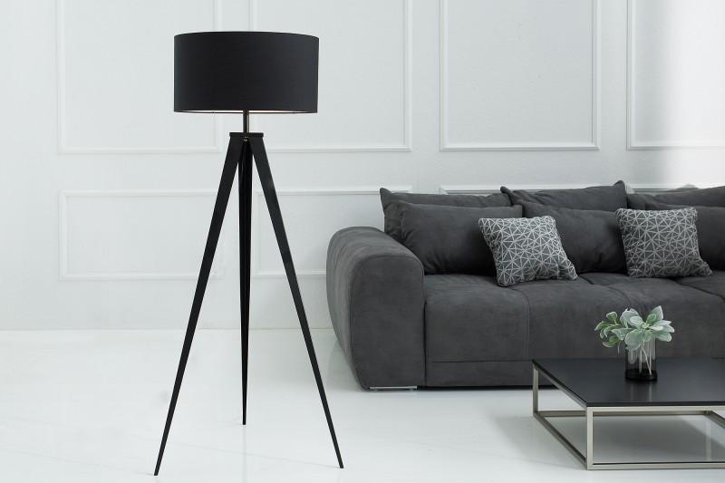 Stojací lampa Simone 142cm - černá / 38683