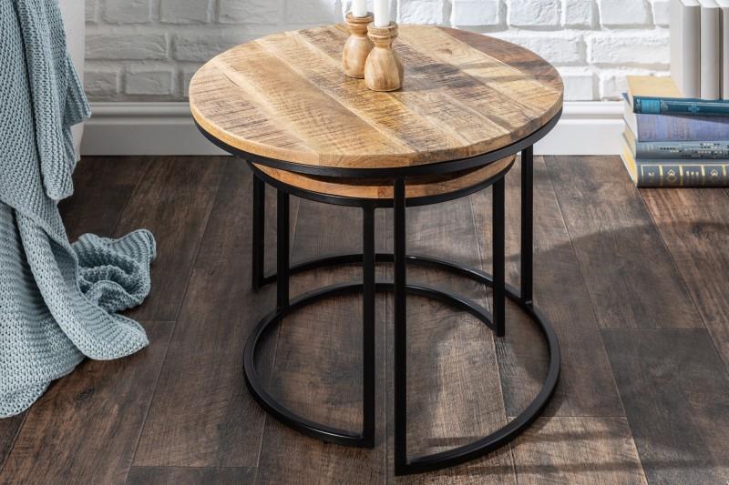 Konferenční stolek Dorado 2ks - přírodní mango / 39656