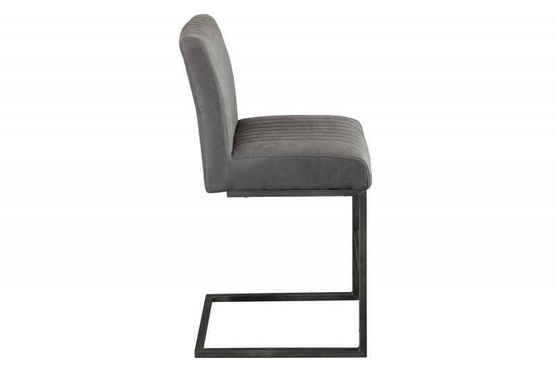 Barová židle Big Aston II starožitná šedá / 40006