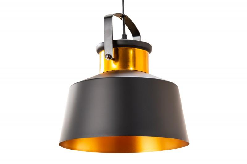 Závěsná lampa Wyatt l - černá, zlatá / 39963