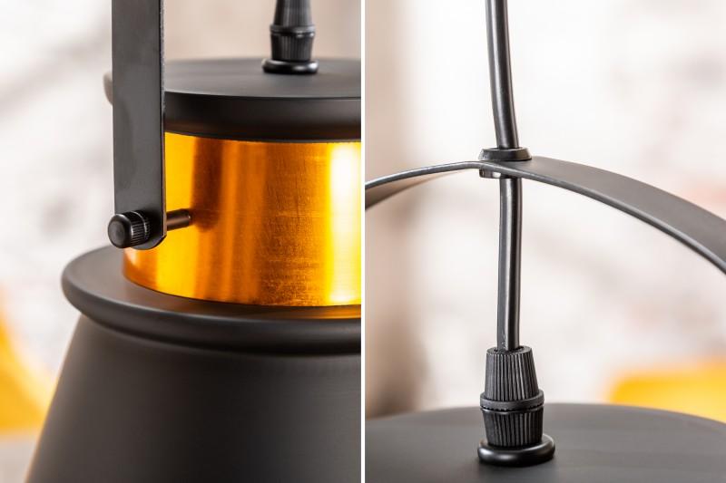 Závěsná lampa Wyatt II - černá, zlatá / 39964