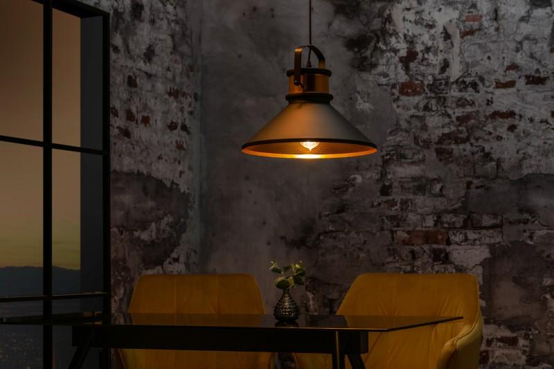 Závěsná lampa Wyatt III - černá, zlatá / 39965