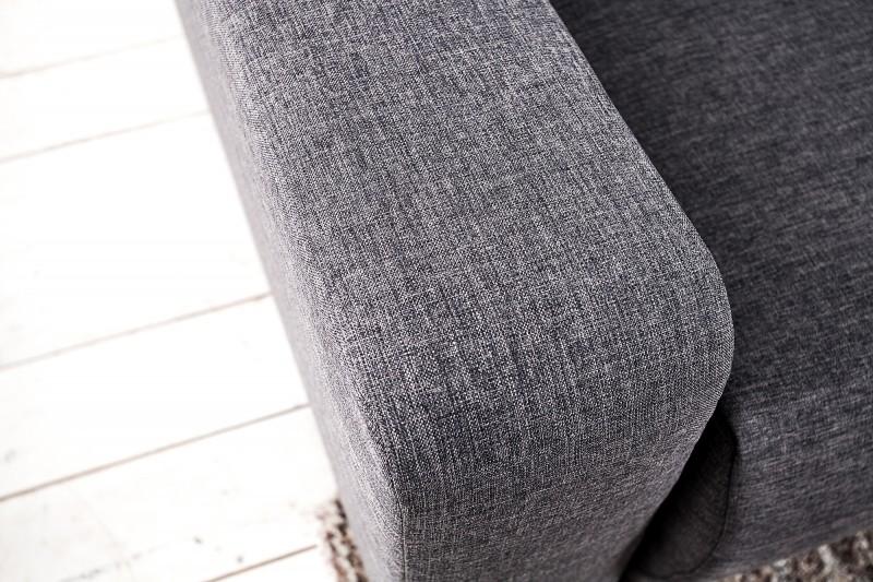 Pohovka rohová Tailors Cut - rozkládací 255cm tmavě šedá / 36481