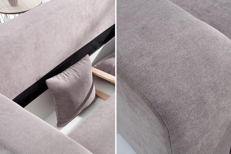 Pohovka rohová Tailors Cut - rozkládací  255cm šedá / 37841