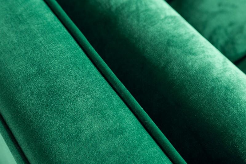 Pohovka Sheilla 225cm - smaragdově zelená, samet / 39845