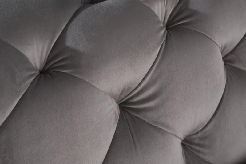 Pohovka rohová Modern Baroque - šedý samet / 39607