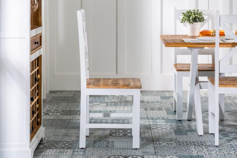Jídelní židle Casey - bílá, mango / 39779