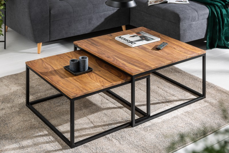 Konferenční stolek - 2ks Sheesham / 40001