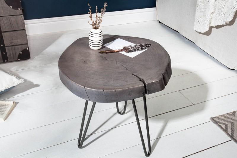 Konferenční stolek Goa 43cm x 40cm - akát, šedá / 39597
