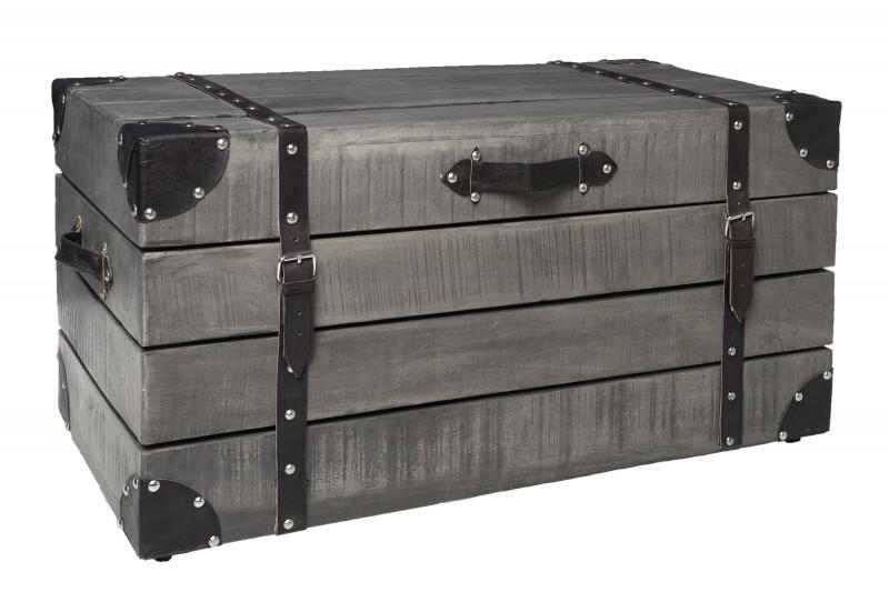 Konferenční stolek Treasure 82cm x 41cm - mango, šedé / 39666