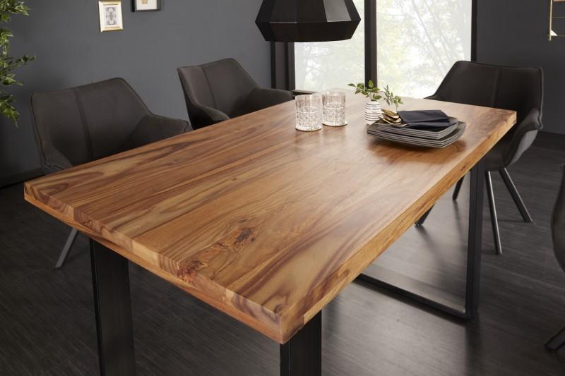 Jídelní stůl Iron Craft 120cm Sheesham 45mm / 39866