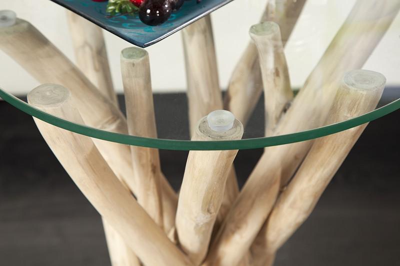 Konferenční stolek Driftwood 40cm - skleněná deska / 19807-2