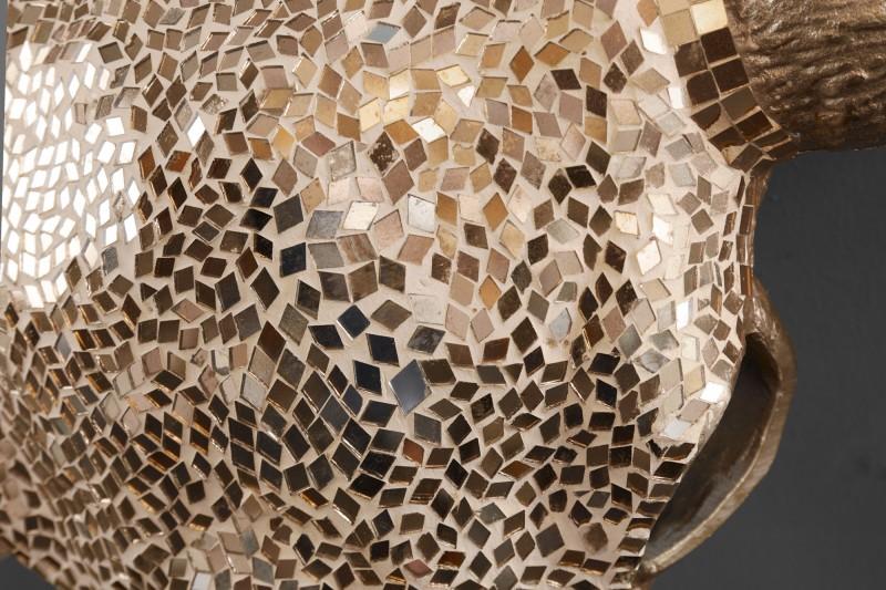 Dekorační lebka Matador 56cm zlatá mozaika / 39879
