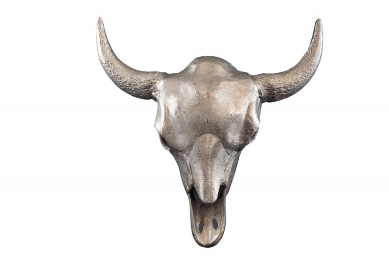 Dekorační lebka Matador 56cm stříbrná / 39880
