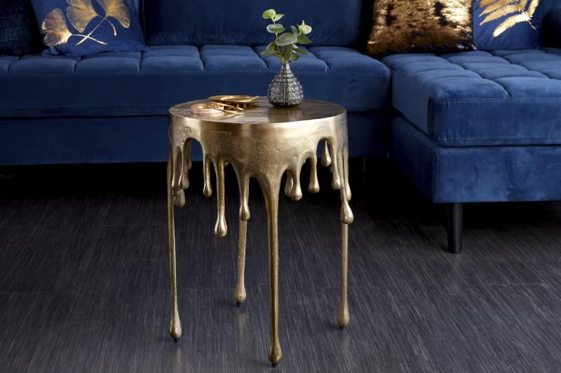Přídavný stůl Liquid Line 51cm zlatý / 39882