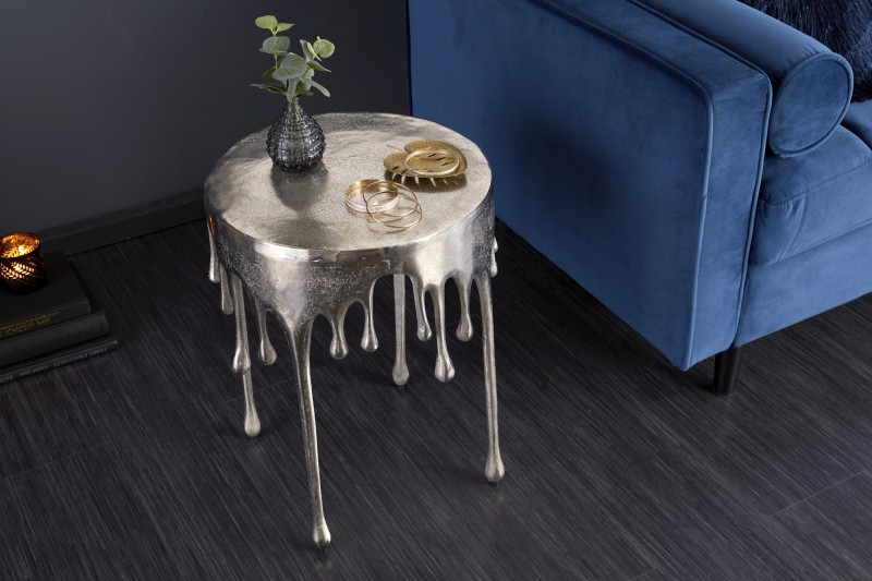 Přídavný stolek Liquid Line 51cm stříbrný / 39883