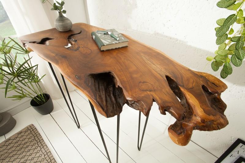 Konferenční stolek - divoký teak 95cm / 39485