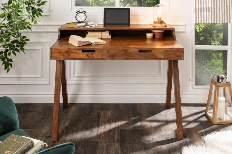 Pracovní stůl Flint 100cm x 60cm - přírodní akát / 39786