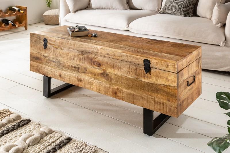 Konferenční stolek Asher Loft 115cm - přírodní mango / 39663