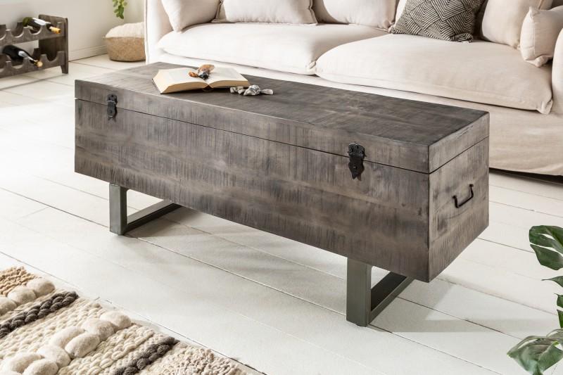 Konferenční stolek Asher Loft 115cm x 35cm  - mango, šedé / 39664