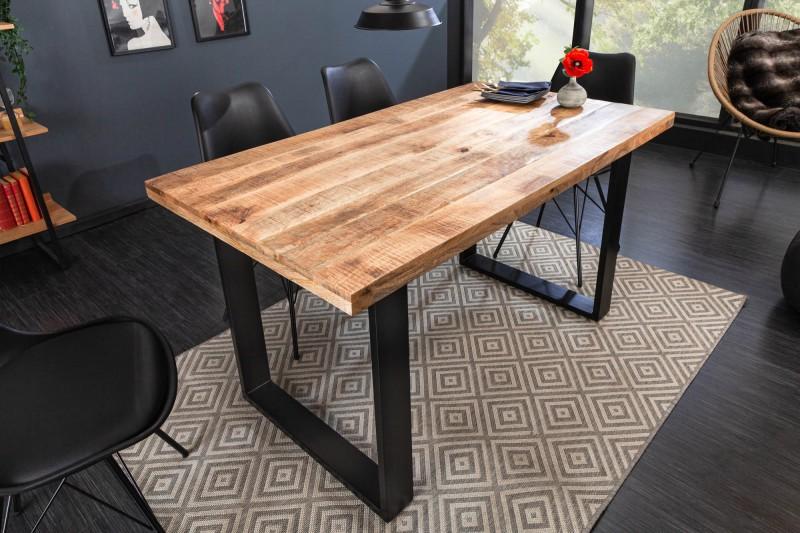 Jídelní stůl Hobart 120cm x 80cm - přírodní mango / 39875