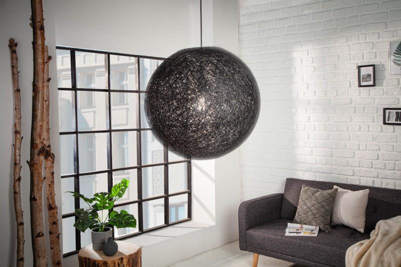 Závěsná lampa Milles - černá 45cm / 11013