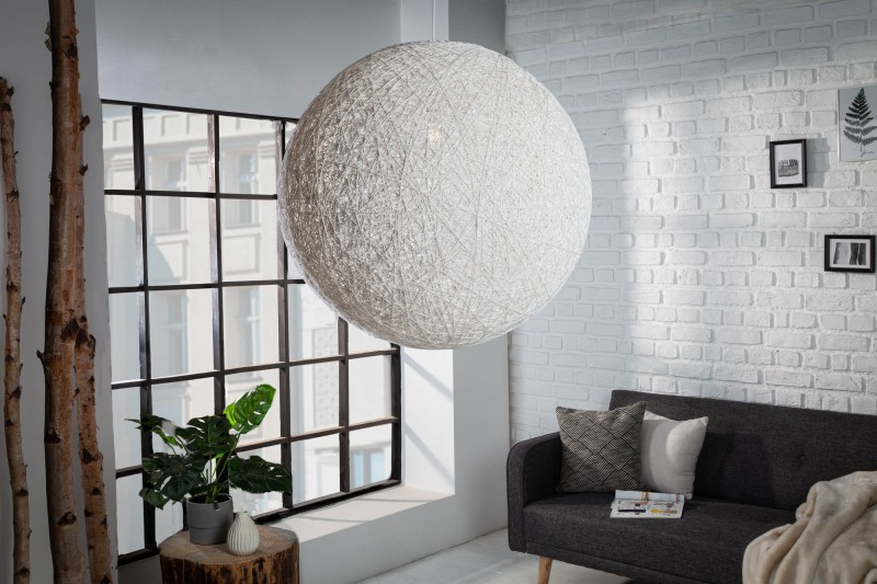 Závěsná lampa Milles - bílá 60cm / 11014