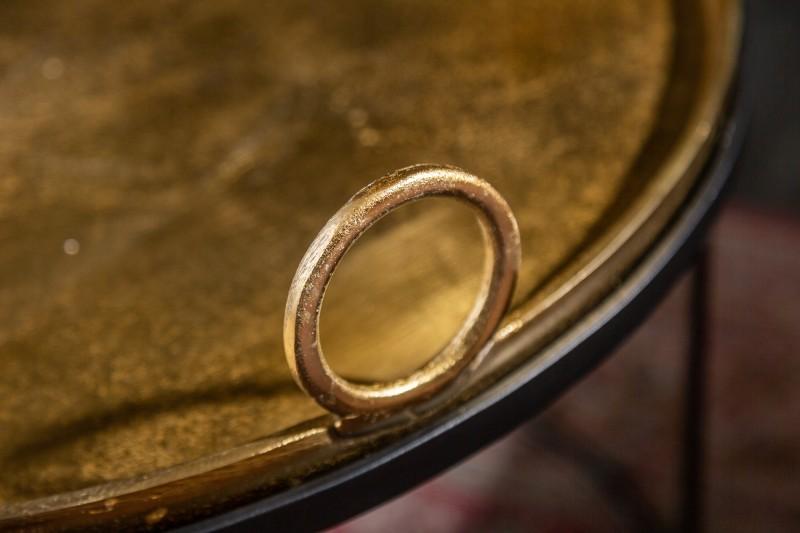 Stolek Elements Oriental 2ks - 61cm x 52cm- zlatý / 39088