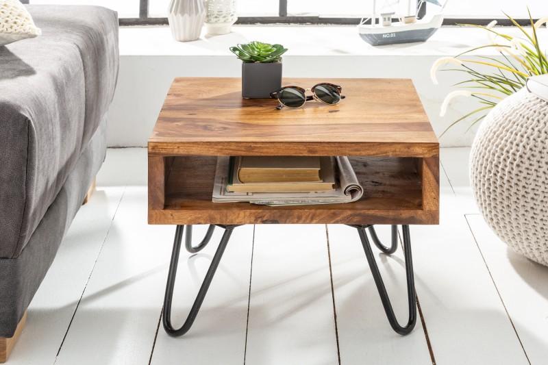 Konferenční stolek Baucau 45cm x 45cm - Sheesham / 39957