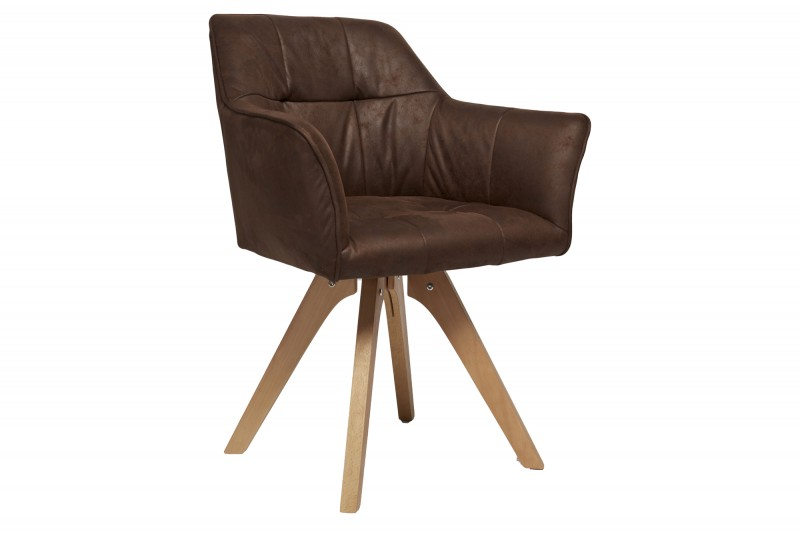 Jídelní židle Hatton - vintage hnědá / 40024