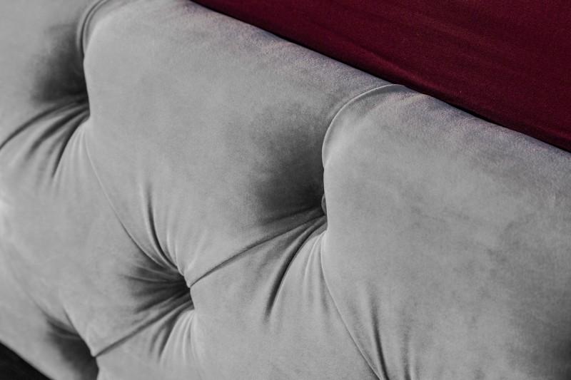Postel Paris 160cm x 200cm - stříbrno šedá, samet / 39993