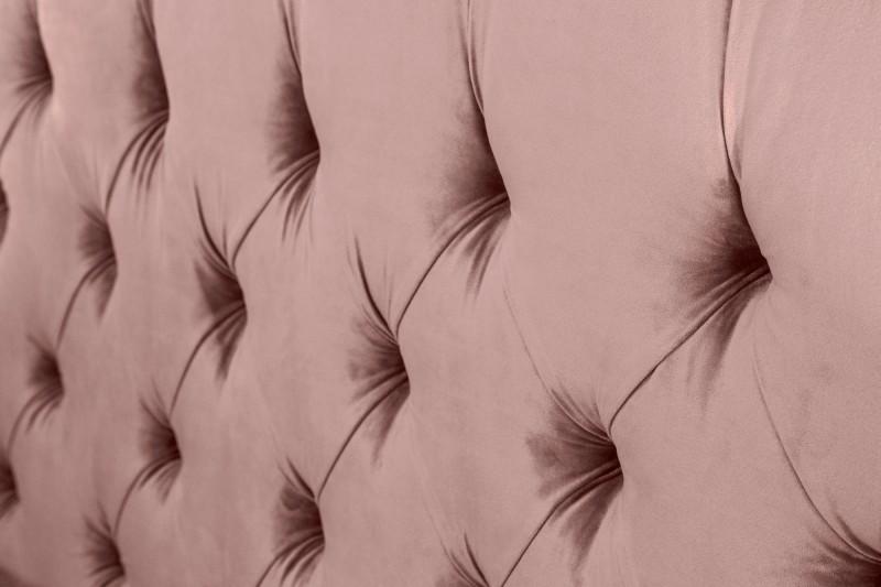 Pařížské lůžko 160x200cm tmavě růžový samet / 39994