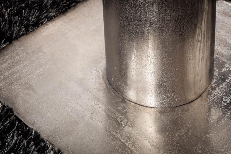 Jídelní stůl Screw 94cm - stříbrný / 39921
