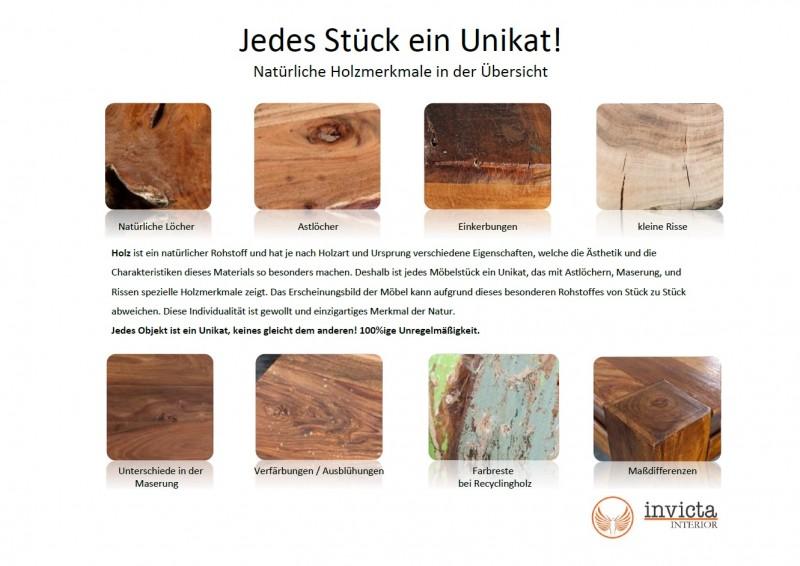 Stolek Block 75cm - vintage hnědá, akát / 36442
