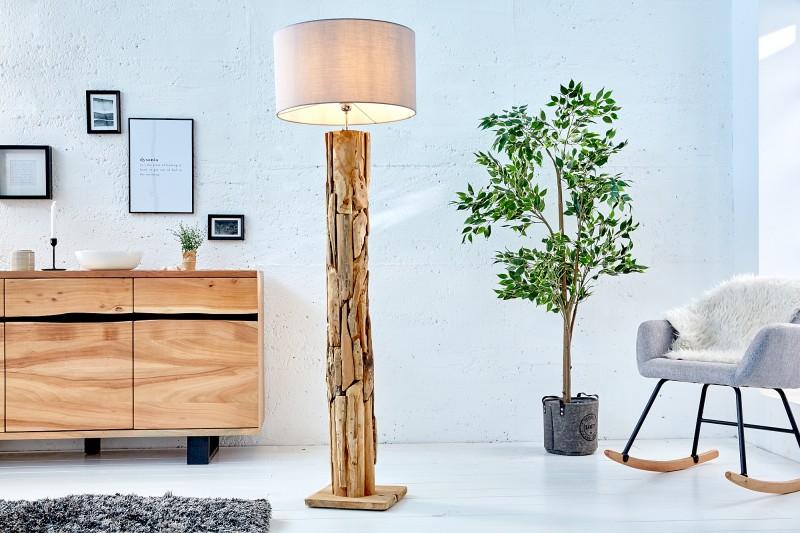 Stojací lampa Roots (stínidlo) - šedá / 39322