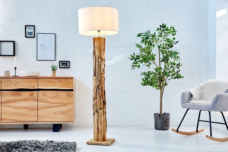 Stojací lampa Roots (stínidlo) - přírodní / 39323