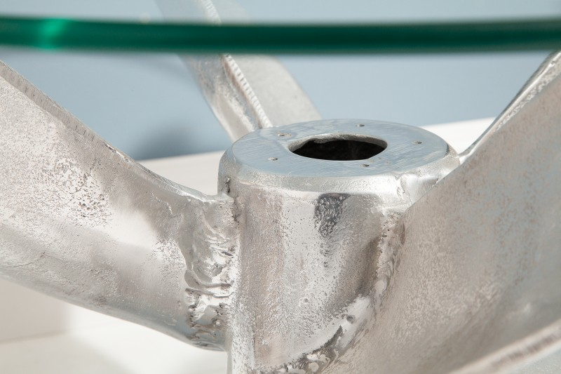 Konferenční stolek Screw 60cm x 60cm - stříbrný / 39089