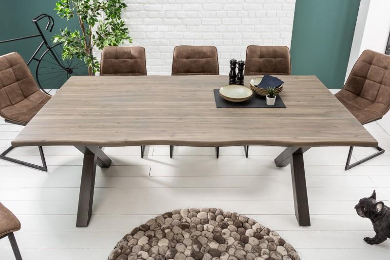 Jídelní stůl Colombo Grey 160cm x 90cm - šedý akát / 39789