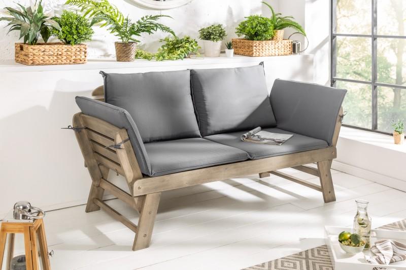 Zahradní lavička Gardens 68cm x 152cm - 190cm - šedý akát / 39837