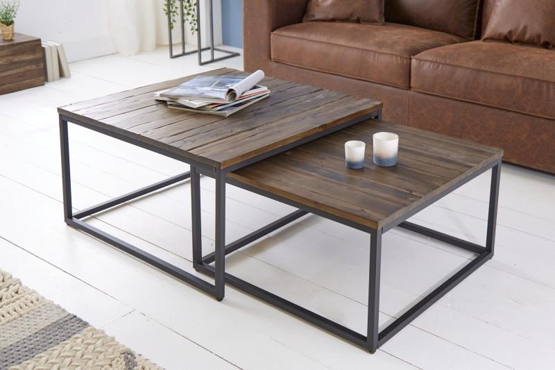 Konferenční stolek - 2ks akácie / 39701