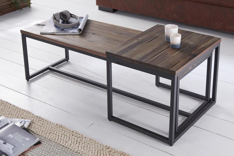 Konferenční stolek Azrou 2ks - přírodní  akácie / 39702